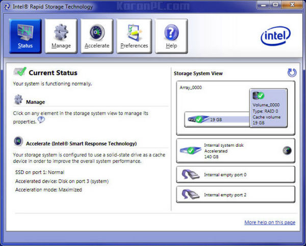 Intel Rapid Storage Technology Driver 15.2.10.1044 - Karan PC