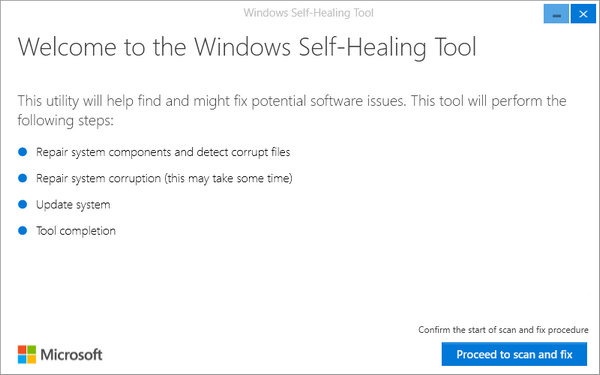 Windows Self-Healing Tool